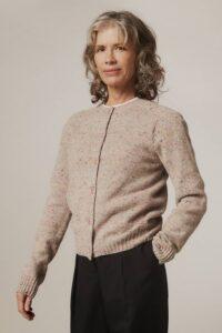 Maddis Lambswool Cashmere Cardigan Pink - British Made