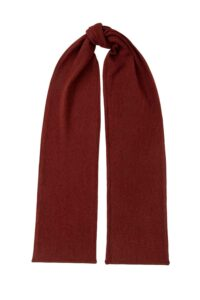 Luxury unisex 100% lambswool textured scarf in rust British made