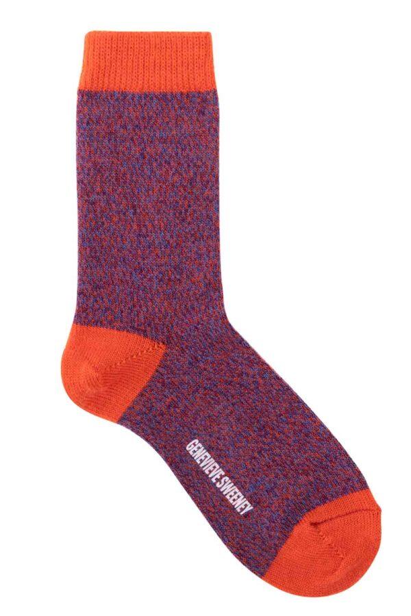 british wool winter socks orange