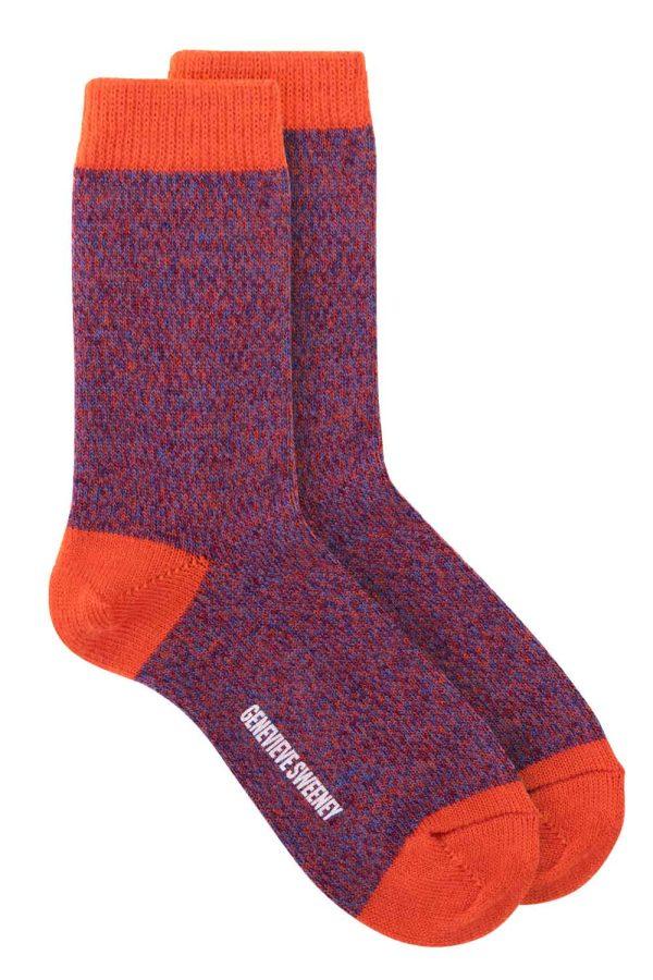 unisex merino wool orange socks
