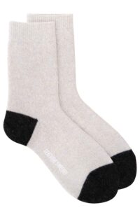 luxury merino cashmere sparkly white lounge sock