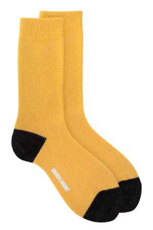 merino cashmere sparkly mustard socks