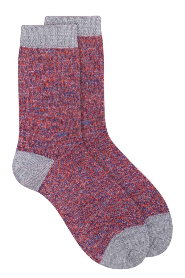 unisex merino wool grey socks British made