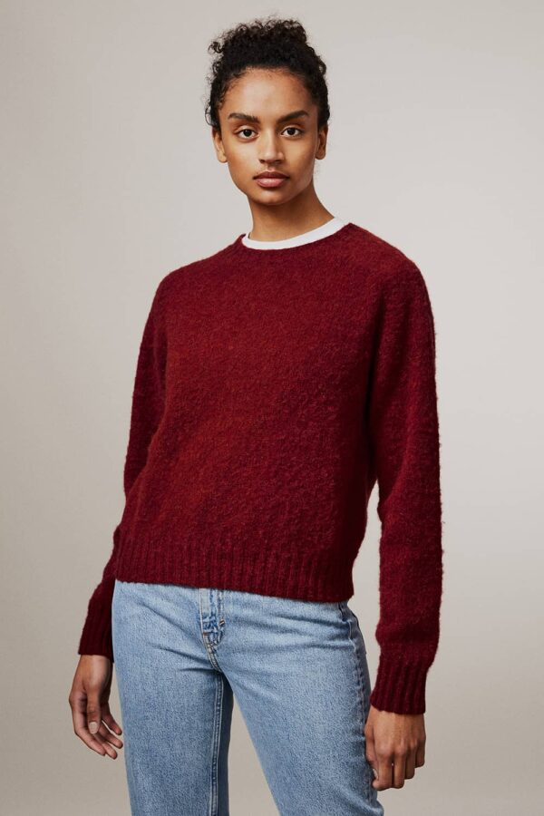 Leslie Brushed Wool Sweater Red - British Made 3