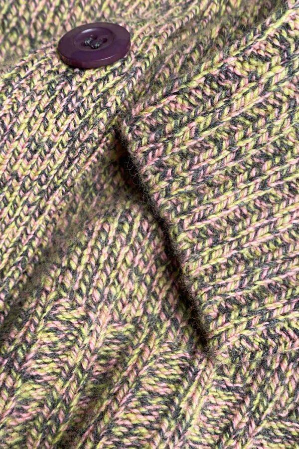 Alloa Cardigan Lambswool Lichen - British Made 4
