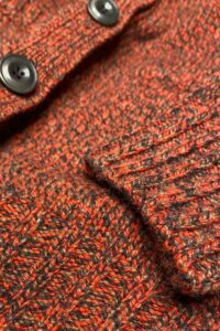 Luxury Boyfriend Fit Hazelnut Orange Lambswool Cardigan - British Made
