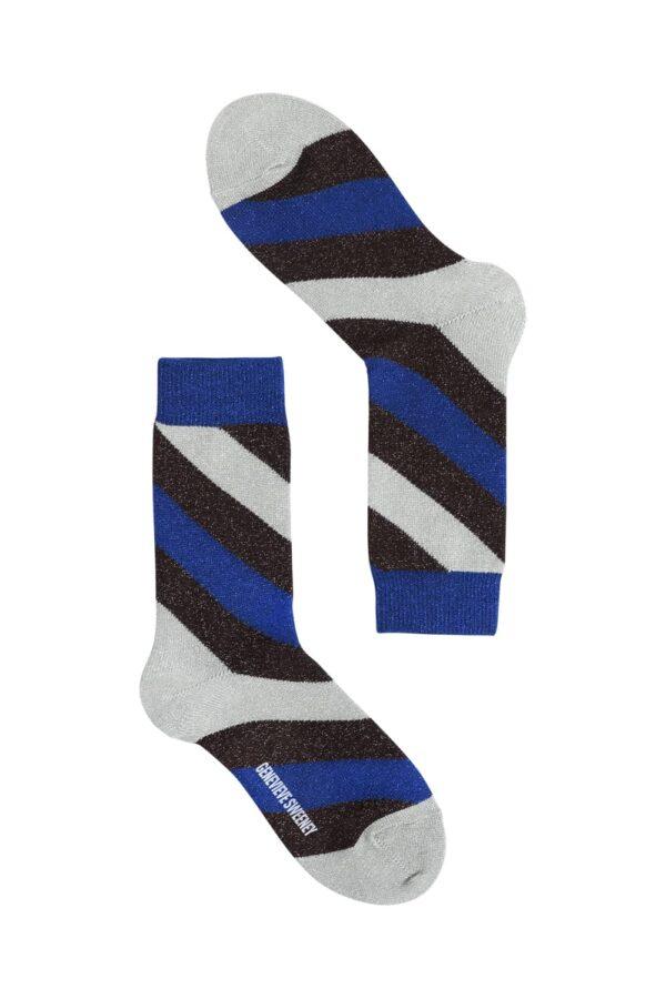 Serora Sparkly Stripe Sock Mint - British Made 2