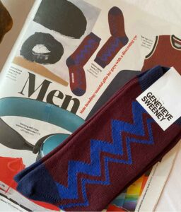 observer magazine mens burgundy socks