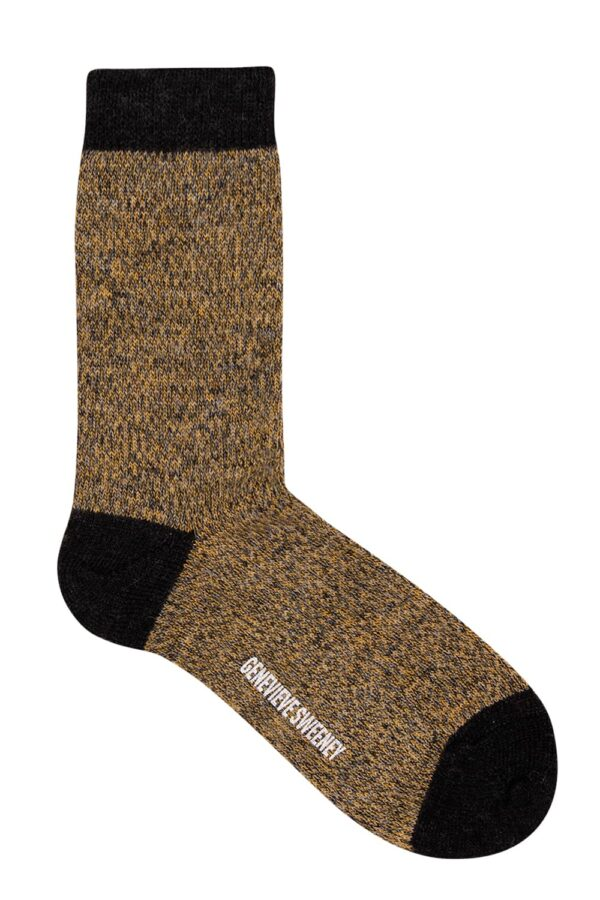 Samar Merino Wool Marl Sock Mustard - British Made 2