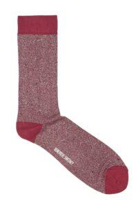 Solline Sparkly Sock Silk Tweed Red - British Made