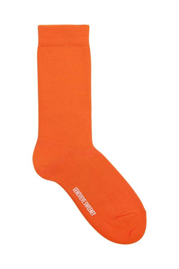 Luxury Unisex Everyday Orange Socks - Made in Britain