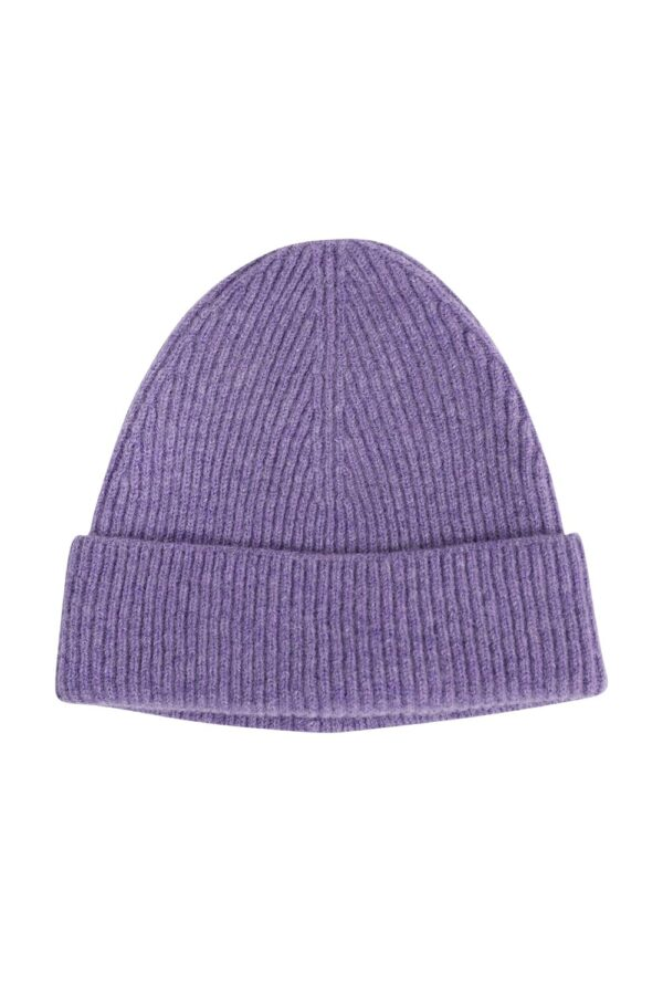 Luxury Unisex Lilac Lambswool Beanie Hat - Made in Britain