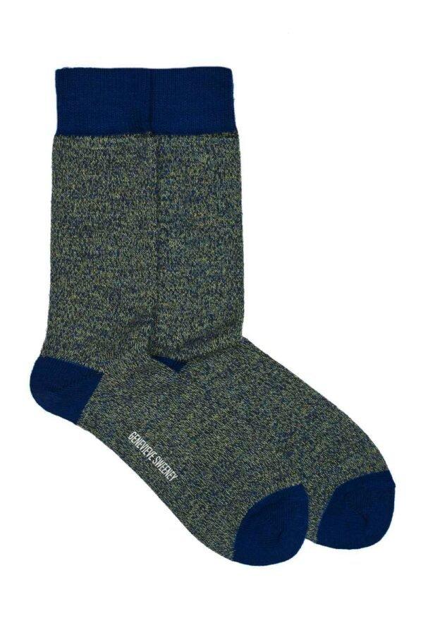 Luxury Unisex Navy marl Merino Wool Socks - British Made
