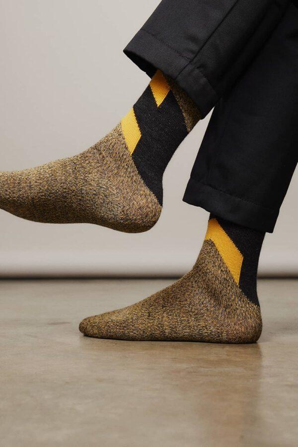 Severn Merino Sock Charcoal - British Made 3