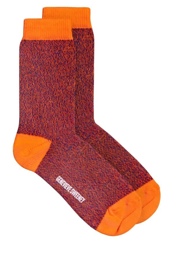 Samar Cotton Marl Sock Orange - British Made