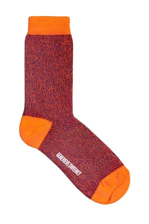 Samar Cotton Marl Sock Orange - British Made 2