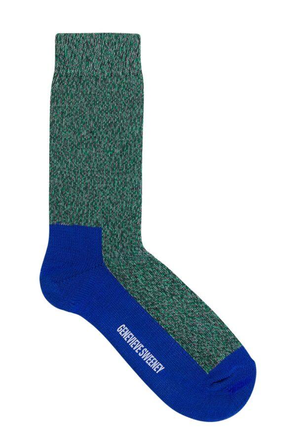 GS Cotton Walking Sock Green Marl - British Made 2