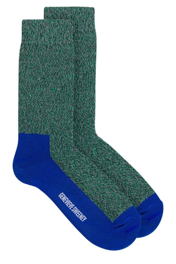 GS Cotton Walking Sock Green Marl - British Made