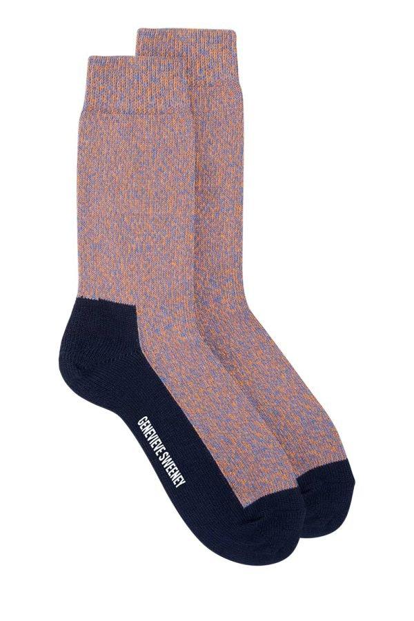 GS Cotton Walking Sock Orange Marl - British Made