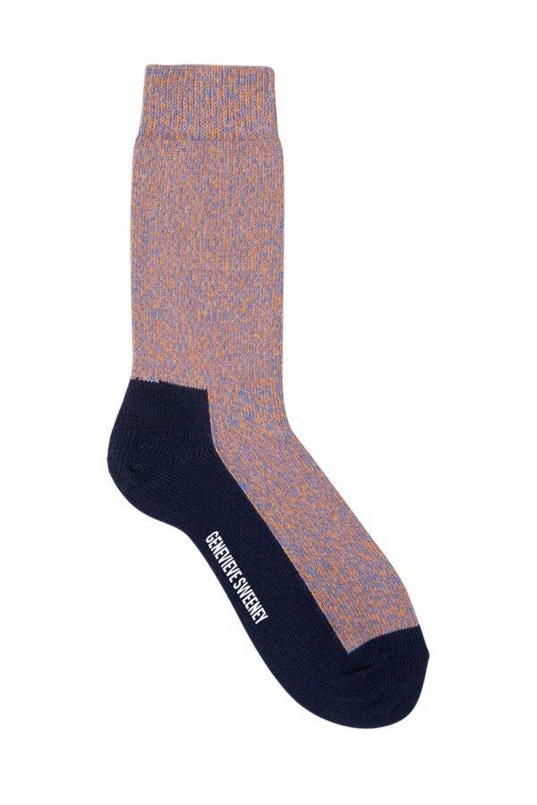 GS Cotton Walking Sock Orange Marl - British Made 2