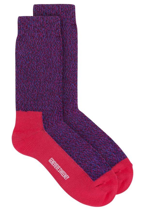 GS Cotton Walking Sock Pink Marl - British Made