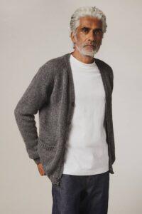 Aven Cardigan Supersoft Wool Mid Grey Melange - British Made