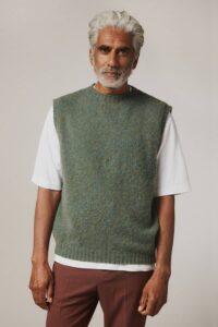 Jade Men's Woolen Knitted Sleeveless Sweater Vest
