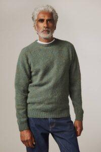Lunan Brushed Wool Sweater Jade Green - British Made