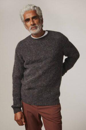 Lunan Brushed Wool Sweater Smoulder - British Made