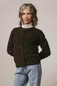 Maddis Lambswool Cashmere Cardigan Black - British Made