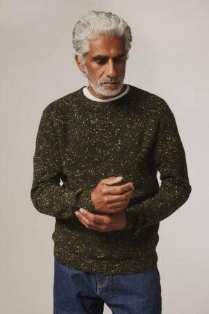Mauden Lambswool Cashmere Sweater Black - British Made