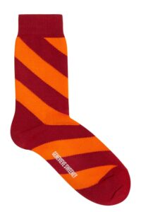 Serora Cotton Stripe Socks Red - British Made