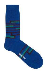 Sette Cotton Stripe Socks Blue - British Made